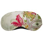 Floral Pattern Background Sleeping Masks Front