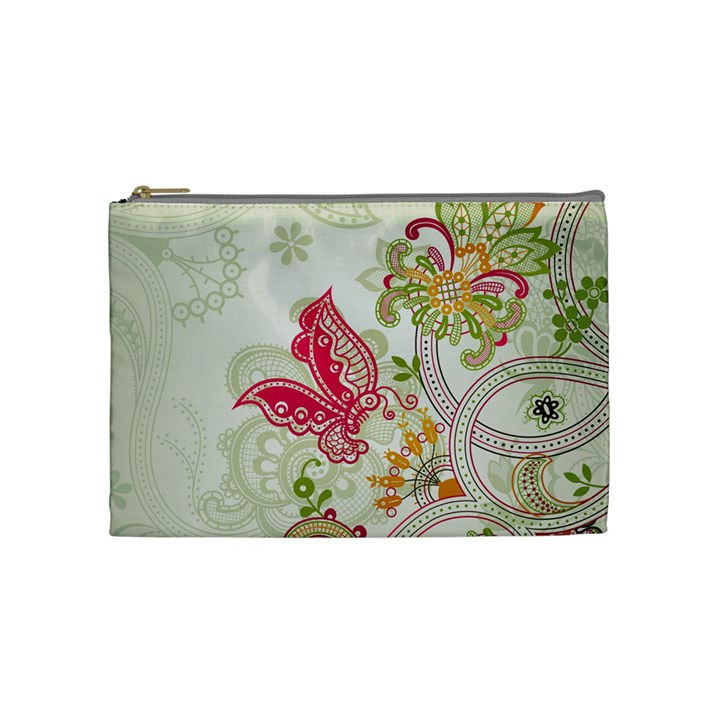 Floral Pattern Background Cosmetic Bag (Medium)