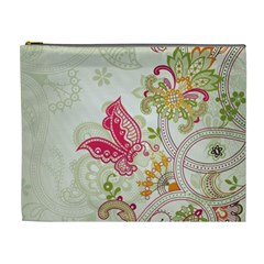 Floral Pattern Background Cosmetic Bag (XL)