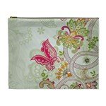 Floral Pattern Background Cosmetic Bag (XL) Front