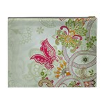 Floral Pattern Background Cosmetic Bag (XL) Back