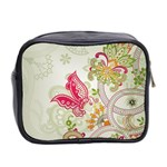 Floral Pattern Background Mini Toiletries Bag 2-Side Back