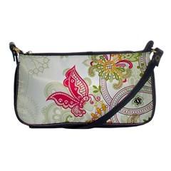 Floral Pattern Background Shoulder Clutch Bags