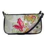 Floral Pattern Background Shoulder Clutch Bags Front