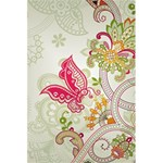 Floral Pattern Background 5.5  x 8.5  Notebooks Front Cover