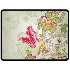 Floral Pattern Background Fleece Blanket (Large)