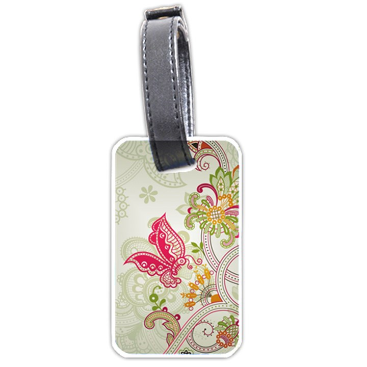 Floral Pattern Background Luggage Tags (Two Sides)