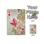 Floral Pattern Background Playing Cards 54 (Mini)  Front - Heart6