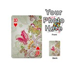 Floral Pattern Background Playing Cards 54 (Mini)  Front - Heart10