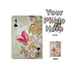Floral Pattern Background Playing Cards 54 (Mini)  Front - Club4