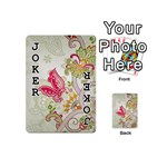 Floral Pattern Background Playing Cards 54 (Mini)  Front - Joker1