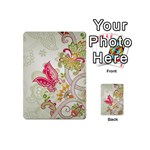 Floral Pattern Background Playing Cards 54 (Mini)  Back