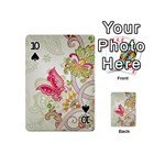 Floral Pattern Background Playing Cards 54 (Mini)  Front - Spade10
