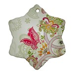Floral Pattern Background Ornament (Snowflake)  Front