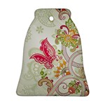 Floral Pattern Background Bell Ornament (2 Sides) Back