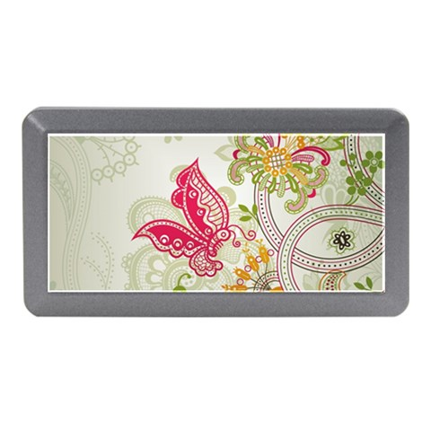 Floral Pattern Background Memory Card Reader (Mini)