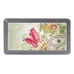 Floral Pattern Background Memory Card Reader (Mini) Front