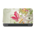 Floral Pattern Background Memory Card Reader with CF Front