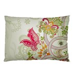 Floral Pattern Background Pillow Case (Two Sides) Back