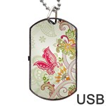 Floral Pattern Background Dog Tag USB Flash (Two Sides)  Front