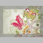 Floral Pattern Background Deluxe Canvas 18  x 12   18  x 12  x 1.5  Stretched Canvas