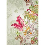 Floral Pattern Background WORK HARD 3D Greeting Card (7x5) Inside