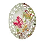 Floral Pattern Background Ornament (Oval Filigree)  Front