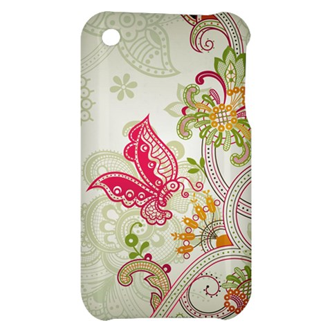 Floral Pattern Background Apple iPhone 3G/3GS Hardshell Case