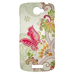 Floral Pattern Background HTC One S Hardshell Case
