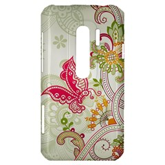 Floral Pattern Background HTC Evo 3D Hardshell Case