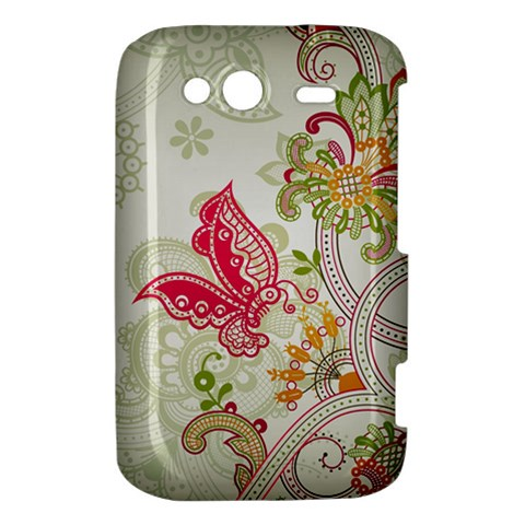 Floral Pattern Background HTC Wildfire S A510e Hardshell Case