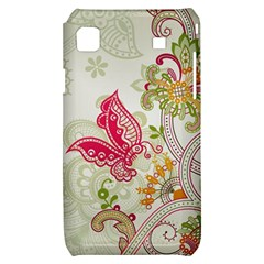 Floral Pattern Background Samsung Galaxy S i9000 Hardshell Case
