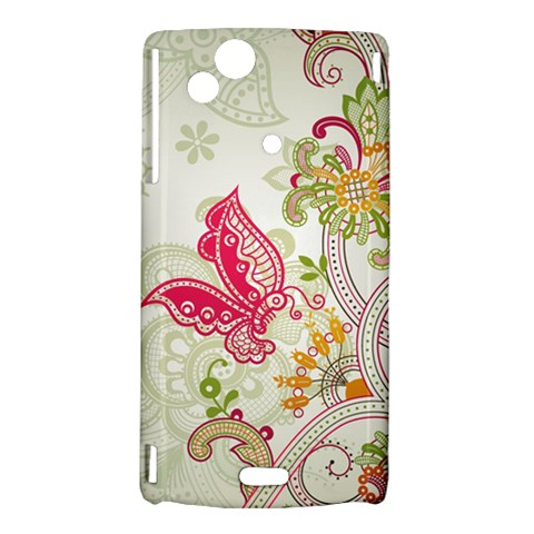 Floral Pattern Background Sony Xperia Arc