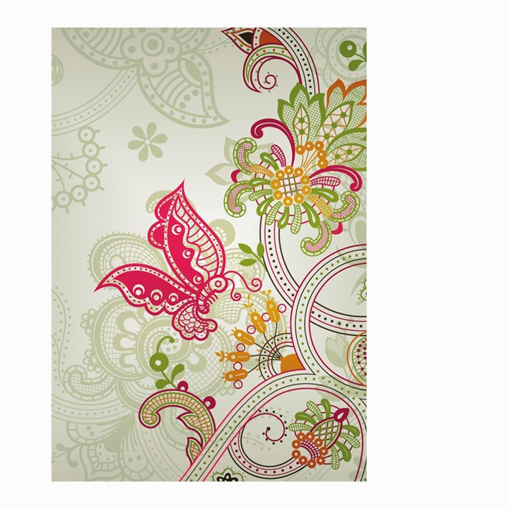 Floral Pattern Background Small Garden Flag (Two Sides)
