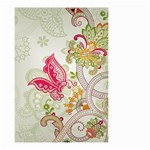 Floral Pattern Background Small Garden Flag (Two Sides) Back