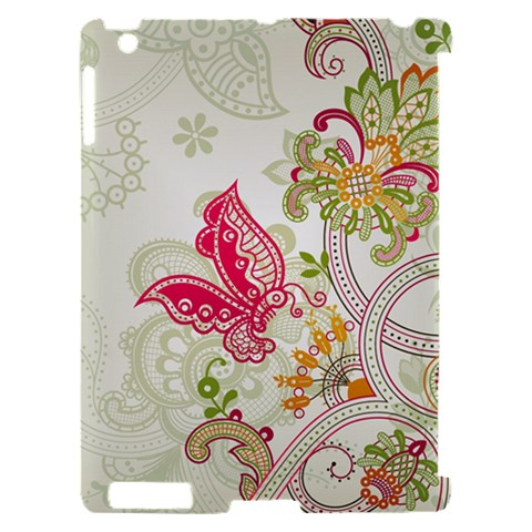 Floral Pattern Background Apple iPad 2 Hardshell Case (Compatible with Smart Cover)