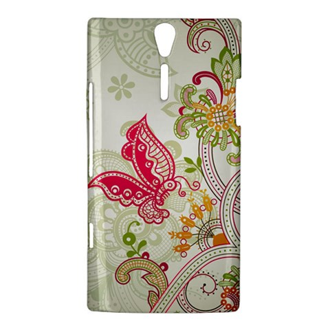 Floral Pattern Background Sony Xperia S