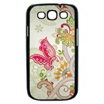 Floral Pattern Background Samsung Galaxy S III Case (Black) Front