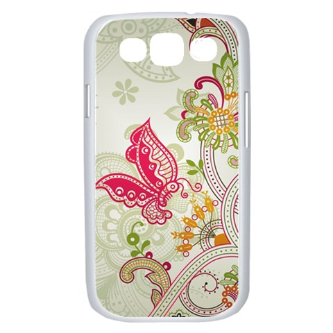 Floral Pattern Background Samsung Galaxy S III Case (White)