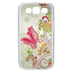 Floral Pattern Background Samsung Galaxy S III Case (White) Front