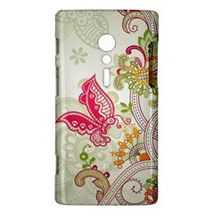 Floral Pattern Background Sony Xperia ion
