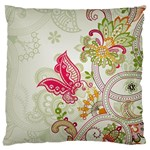 Floral Pattern Background Large Cushion Case (Two Sides) Back