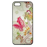Floral Pattern Background Apple iPhone 5 Seamless Case (Black) Front