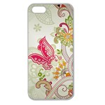 Floral Pattern Background Apple Seamless iPhone 5 Case (Clear) Front