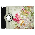 Floral Pattern Background Apple iPad Mini Flip 360 Case Front