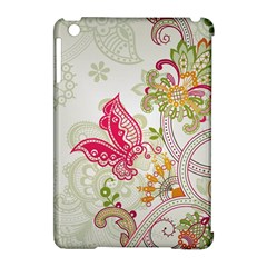 Floral Pattern Background Apple iPad Mini Hardshell Case (Compatible with Smart Cover)