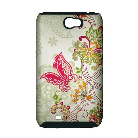 Floral Pattern Background Samsung Galaxy Note 2 Hardshell Case (PC+Silicone)