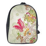 Floral Pattern Background School Bags (XL)  Front