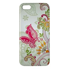 Floral Pattern Background Apple iPhone 5 Premium Hardshell Case
