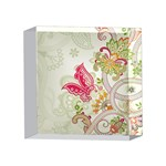 Floral Pattern Background 4 x 4  Acrylic Photo Blocks Front